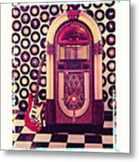 Juke Box Polaroid Transfer Metal Print