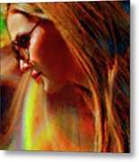 Julee Ross Carbon Girls Metal Print