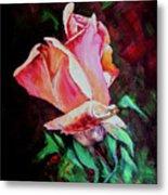 Julia's Rose Metal Print