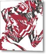 Julio Jones Atlanta Falcons Pixel Art 11 Metal Print