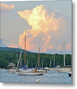 July Sky Over A Maine Harbor Metal Print