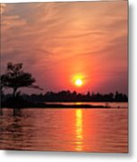 July Sunset At Detroit Point Metal Print