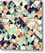 Jumble Of Colors And Texture Metal Print
