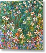 Jumbled Up Wildflowers Metal Print