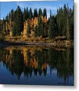 Jumbo Lake In The Fall Metal Print