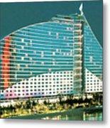 Jumeirah Beach Hotel Metal Print