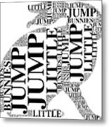 Jump Little Bunnies Jump Metal Print