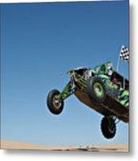 Jumping Hulk Metal Print