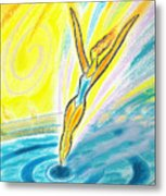 Jumping Right On Target Metal Print