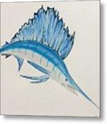 Jumping Swordfish  Metal Print