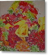 June Bouquet Metal Print