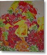 June Bouquet Metal Print