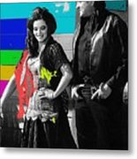 June Carter Cash Johnny Cash In Costume Old Tucson Arizona 1971-2008 Metal Print