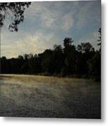 June Mississippi River Misty Dawn Metal Print
