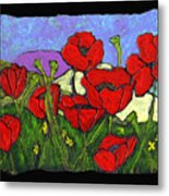 June Poppies Metal Print
