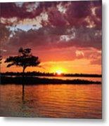 June Sunset At Detroit Point Metal Print