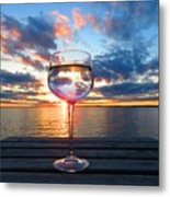 June Sunset Over Wolfe Island Metal Print