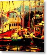 Juneau Boats Metal Print