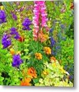 Juneau Has Flowers Metal Print