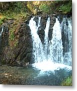 Juneau Waterfall Metal Print