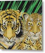 Jungle Cats Metal Print