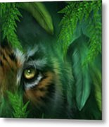 Jungle Eyes - Tiger And Panther Metal Print