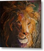 Jungle Lion Metal Print