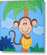 Jungle Monkey Metal Print