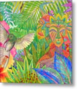 Jungle Spirits And Humming Bird Metal Print