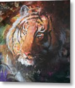 Jungle Tiger Metal Print