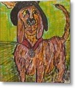 Junk Yard Dog Metal Print