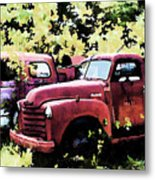 Junked Fire Engines Metal Print