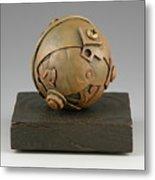 Junkyard Dog Ball Metal Print