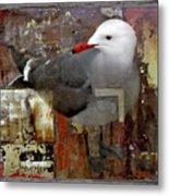 Junkyard Gull Metal Print