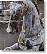Junkyard Horse Metal Print