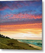 Juno Beach Florida Sunrise Seascape D7 Metal Print