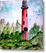 Jupiter Florida Lighthouse Metal Print