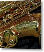 Jupiter Saxophone Metal Print by Michelle Calkins