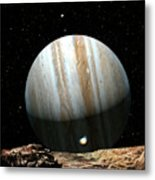 Jupiter Seen From Europa Metal Print by Don Dixon