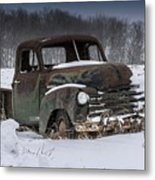 Just An Old Pickup Truck Metal Print