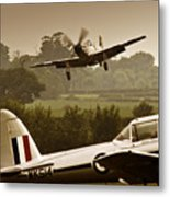 Just Before Landing Metal Print