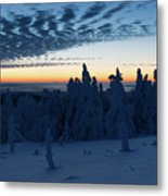 Just Before Sunrise On The Brocken In The Harz Mountains Metal Print