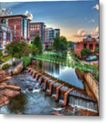 Just Before Sunset 2 Reedy River Falls Park Greenville South Carolina Art Metal Print