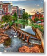 Just Before Sunset Reedy River Falls Park Greenville South Carolina Art Metal Print