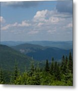 Just Climb Mountains And Breathe Deeply Metal Print