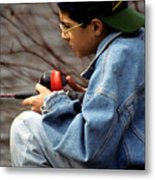 Just Fishin Metal Print