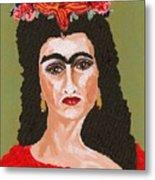 Just Frida Metal Print