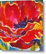 Just One Poppy  Sold Metal Print