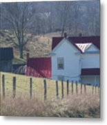 Just Over The Hill - Craig County Virginia Scenic Metal Print