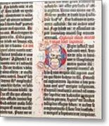 Gutenberg Bible Metal Print